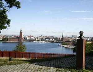 Utsikt från Ivar Los park