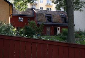 Hus på Bastugatan sett från Monteliusvägen