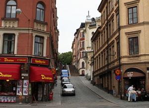 Trapporna från Brännkyrkagatan som leder till Tavastgatan